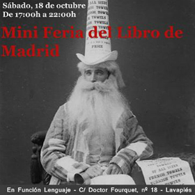 Cartel de la Mini Feria del Libro en Función Lenguaje