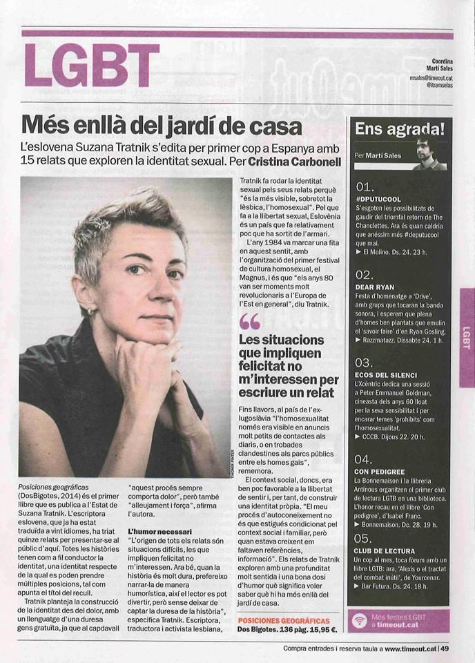 Entrevista a Suzana Tratnik en Time Out Barcelona
