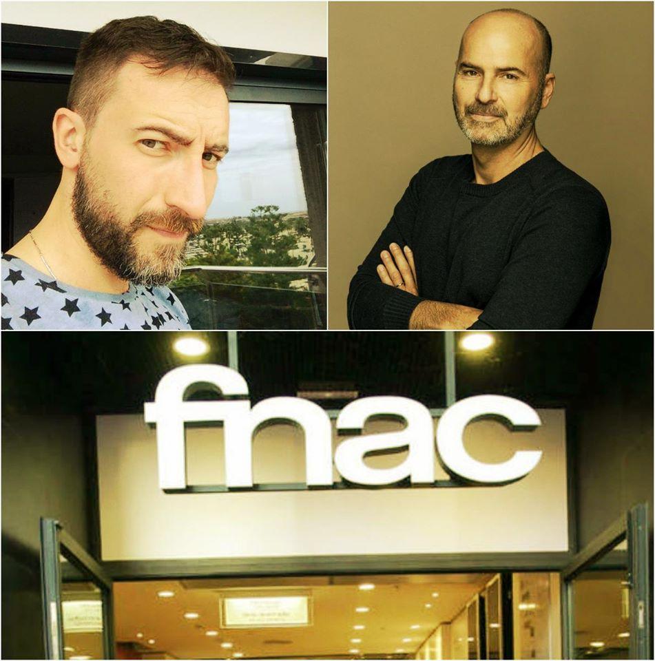 Davide Martini y Claudio Mazza en FNAC Bilbao