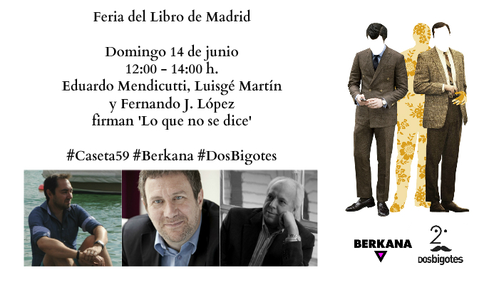 Luisgé Martín, Eduardo Mendicutti y Fernando J. López firman este domingo en la FLM