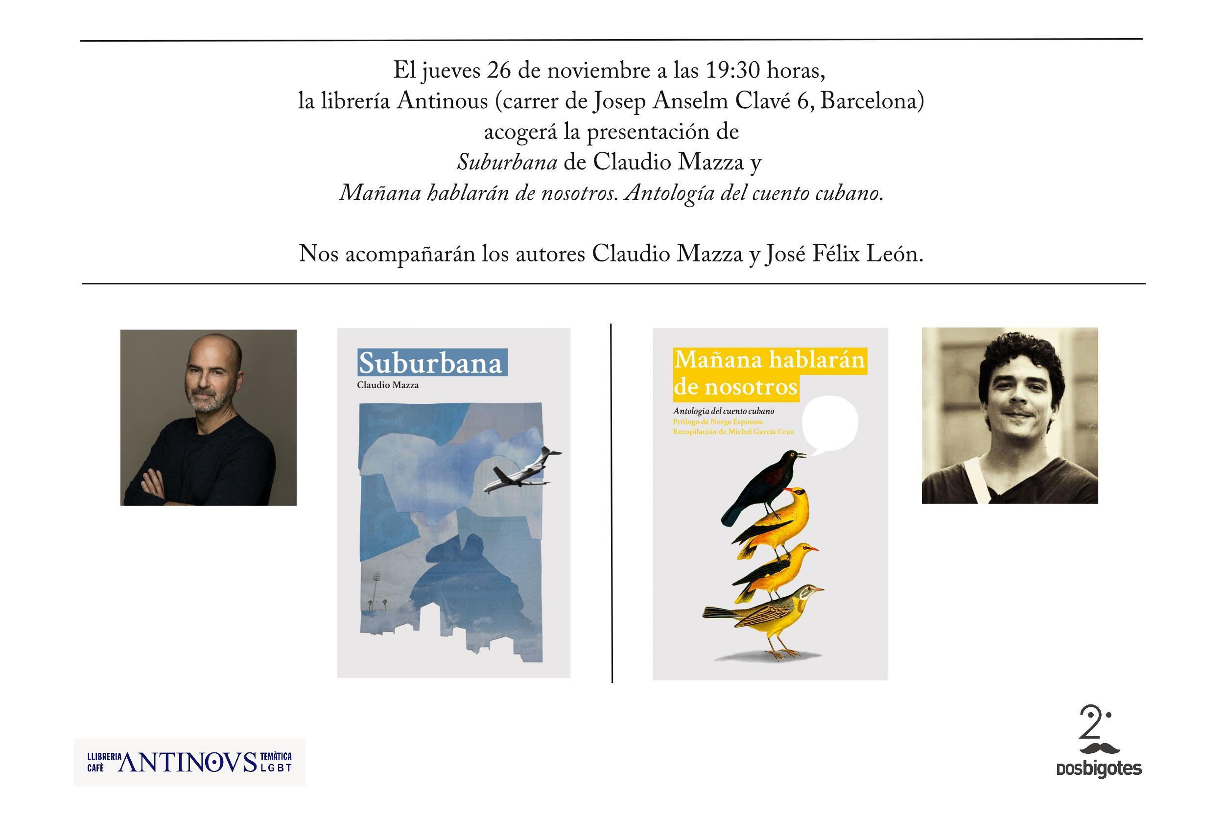 Presentación de 'Suburbana' y 'Mañana hablarán de nosotros' en Barcelona