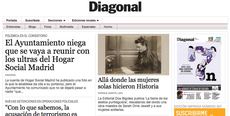 Reportaje sobre La tierra... en Diagonal