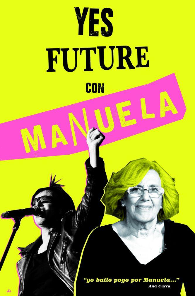 El cartel de Ana Curra y Juan Gallego, una de las imágenes de 'El cielo en movimiento' publicada en la fotogalería de Babelia
